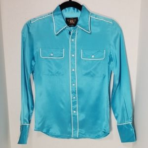 Double RL (Ralph Lauren) silk long sleeve shirt